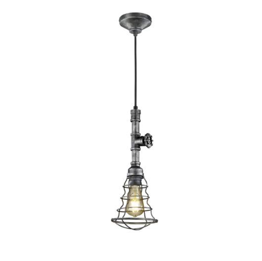 Gotham Industrial Style LED Ceiling Pendant, Single Light