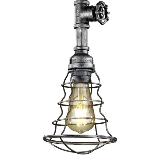 Gotham Industrial Style LED Ceiling Pendant, Single Light