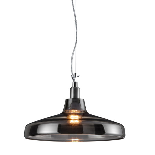 Dover Pendant Ceiling Light, Smoked Glass Body