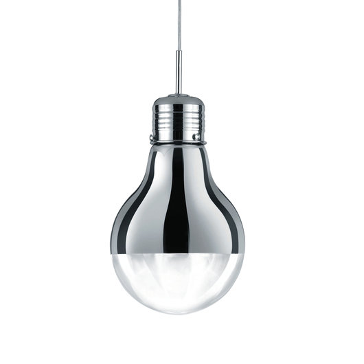 Edison Pendant Ceiling Light, chrome/clear