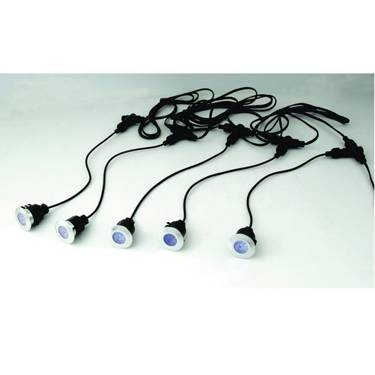 Round Head LED Decking Light Kit, 40mm - IP65 Dan