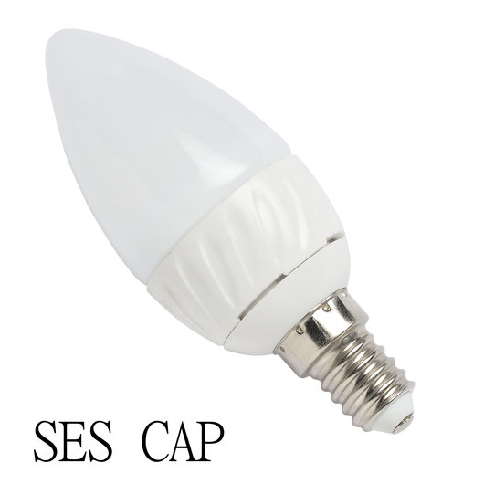 4 Watt COB LED Candle Bulb - Frosted - Warm White