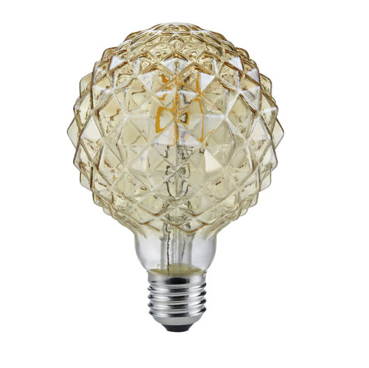 Faceted Shape Vintage E27 4W Fully Dimmable Bulb