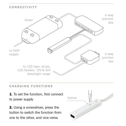 IR Motion Sensor Switch - For LED Lighting