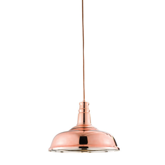 Rosa Copper/ Glass Industrial Style Pendant Light