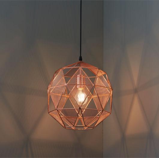 Hex Copper Industrial Pendant Lighting