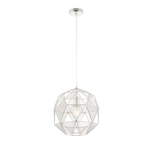 Hex Chrome Industrial Style Pendant