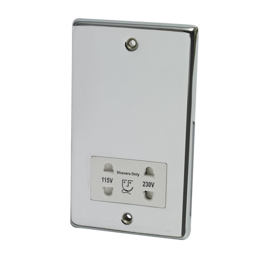 Dual Voltage Shaver Socket - 240V/110V