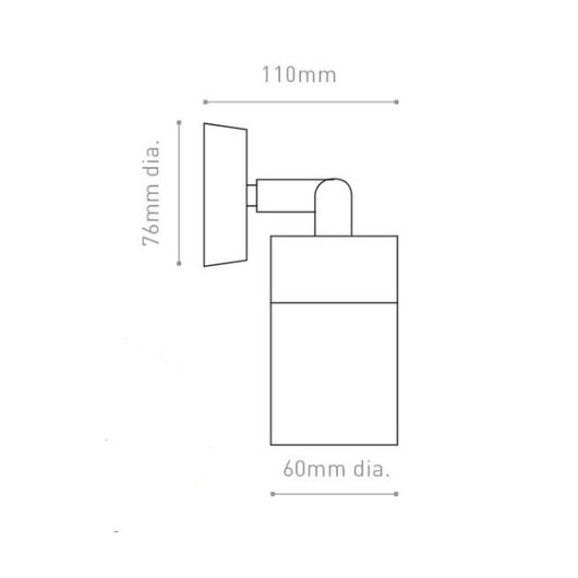 Adjustable IP44 Exterior Wall Light