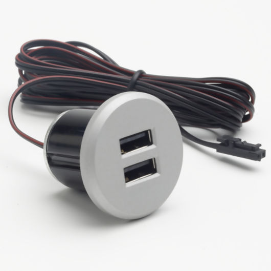 Double Recessed USB Charger